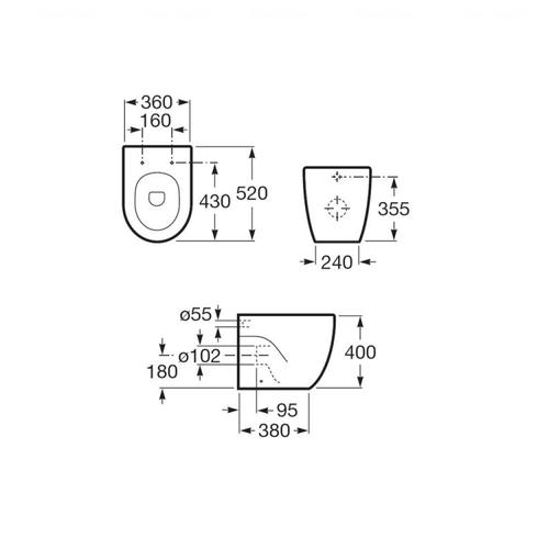 Чаша напольного унитаза Roca Meridian-N (A347247000)
