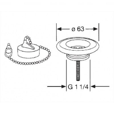 Универсальный запорный вентиль Kludi (1140235-00)