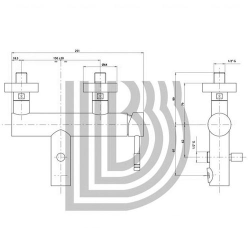 Смеситель для ванны и душа Bianchi Mody (VSCMDY2004SKCRM)