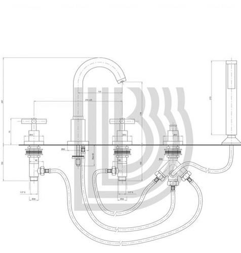 Смеситель для ванны и душа Bianchi Amelix (VSCAML110800CRM)