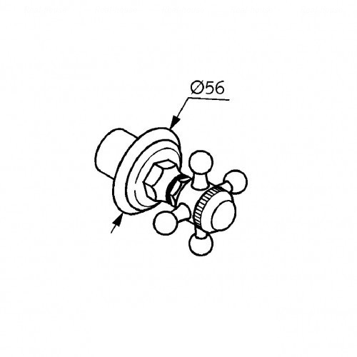 Вентиль для скрытого монтажа Kludi Adlon Ø 56 мм хром, без маркировки хром, без маркировки