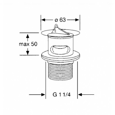 Сливной вентиль Kludi (1042705-00)