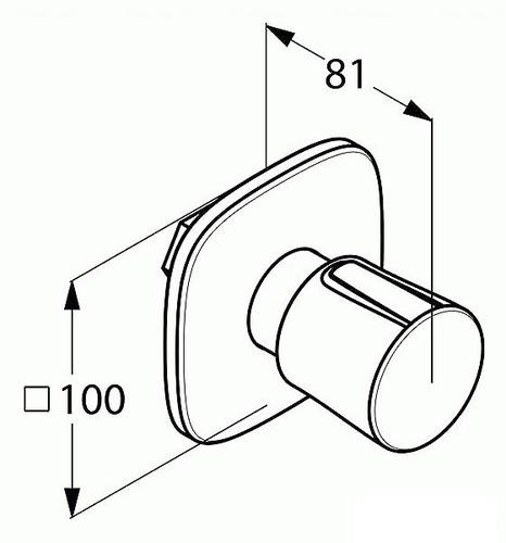 Вентиль скрытого монтажа Kludi Ambienta 538150575