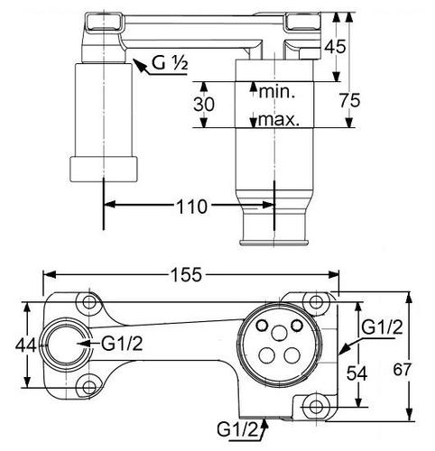 Внутренняя часть смесителя для умывальника Kludi