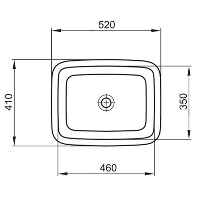 Умывальник встраиваемый Kolo Style 52 обычное покрытие обычное покрытие
