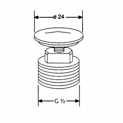 Заглушка G 1/2 Kludi (7034605-00)